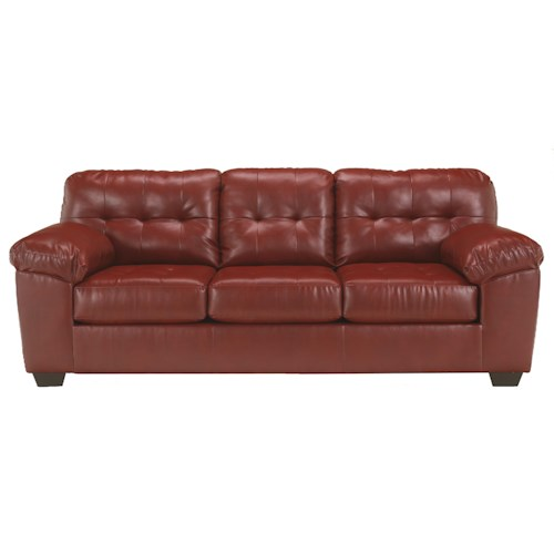 Signature Design by Ashley Furniture Alliston DuraBlend® - Salsa Contemporary Sofa w/ Pillow Arms
