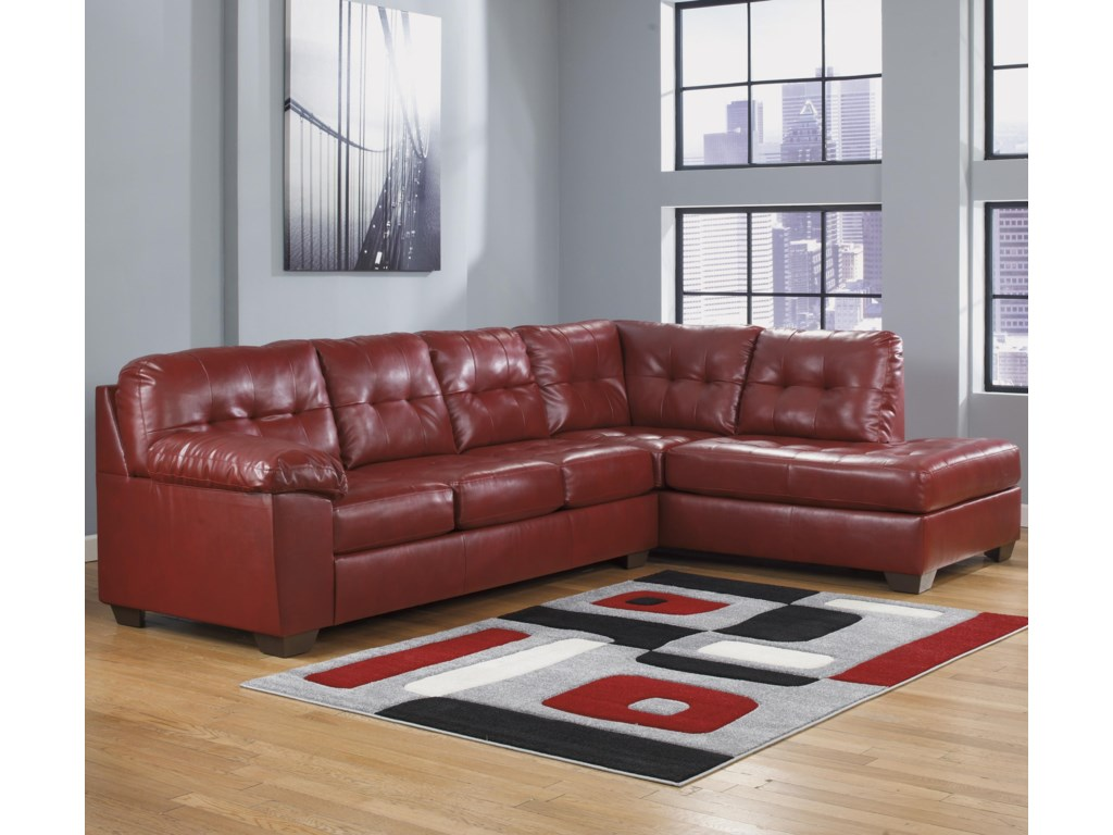 Signature Design by Ashley Alliston DuraBlend® - SalsaSectional w/ Right Chaise