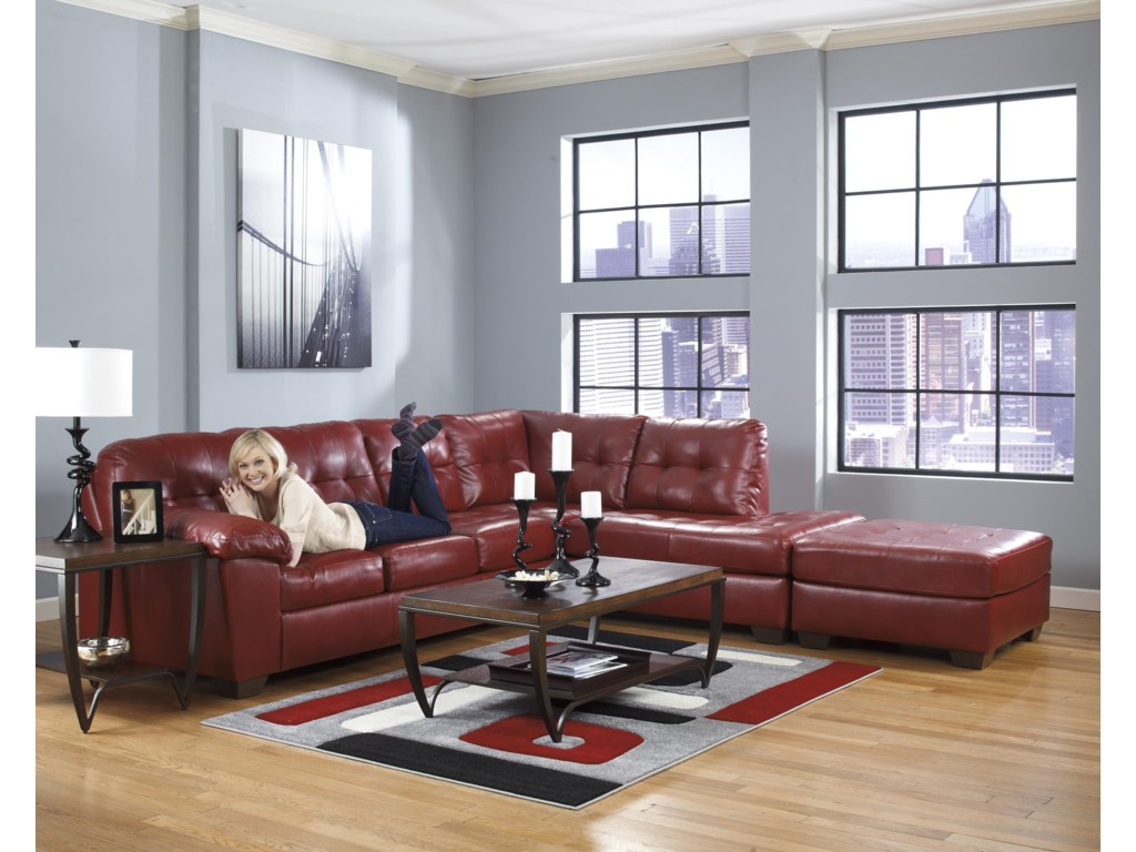 Signature Alliston DuraBlend® - SalsaSectional w/ Right Chaise