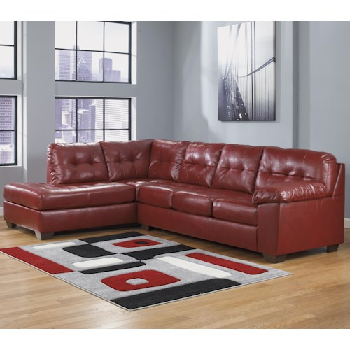 Signature Design by Ashley Alliston DuraBlend® - Salsa Sectional w/ Left Chaise & Tufting