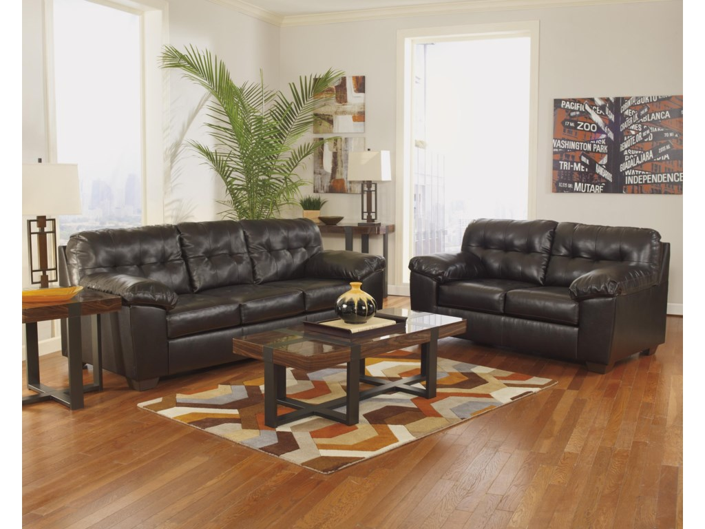 Signature Design by Ashley Alliston DuraBlend® - ChocolateLiving Room Group