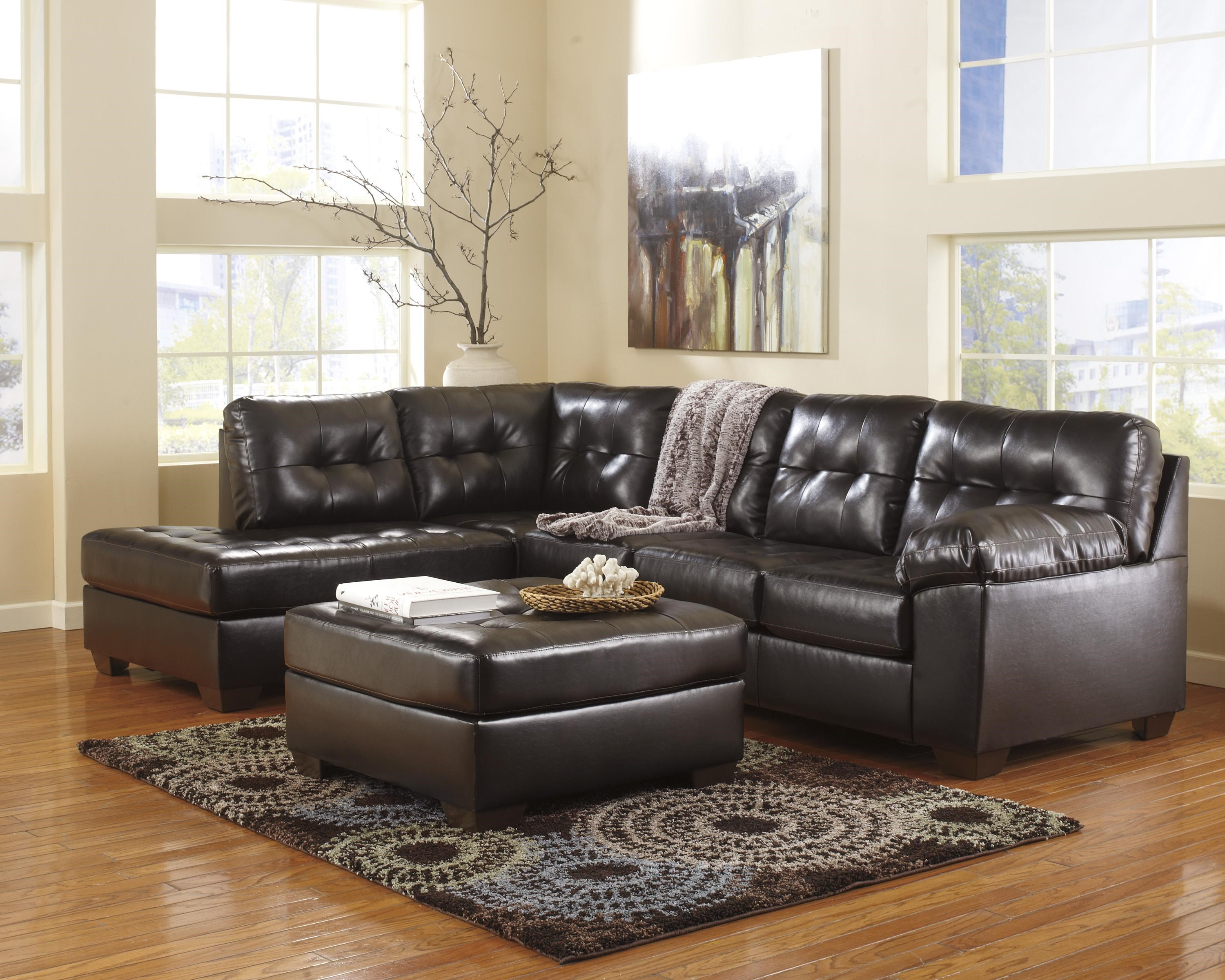 Genial Signature Design By Ashley Alliston DuraBlend®   Chocolate Stationary  Living Room Group