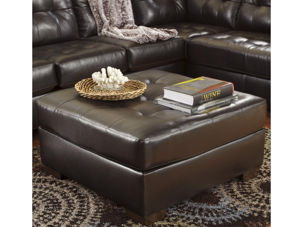 Signature Design by Ashley Alliston DuraBlend® - ChocolateOversized Accent Ottoman
