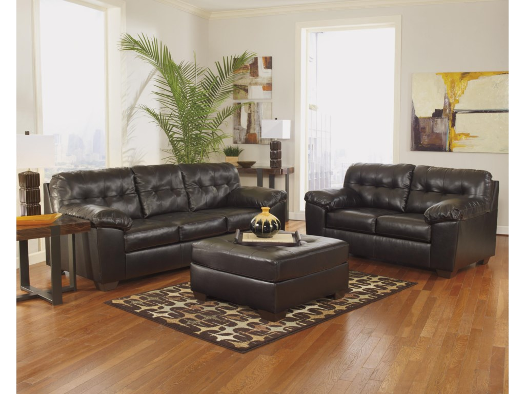 Signature Design Alliston DuraBlend® - ChocolateOversized Accent Ottoman