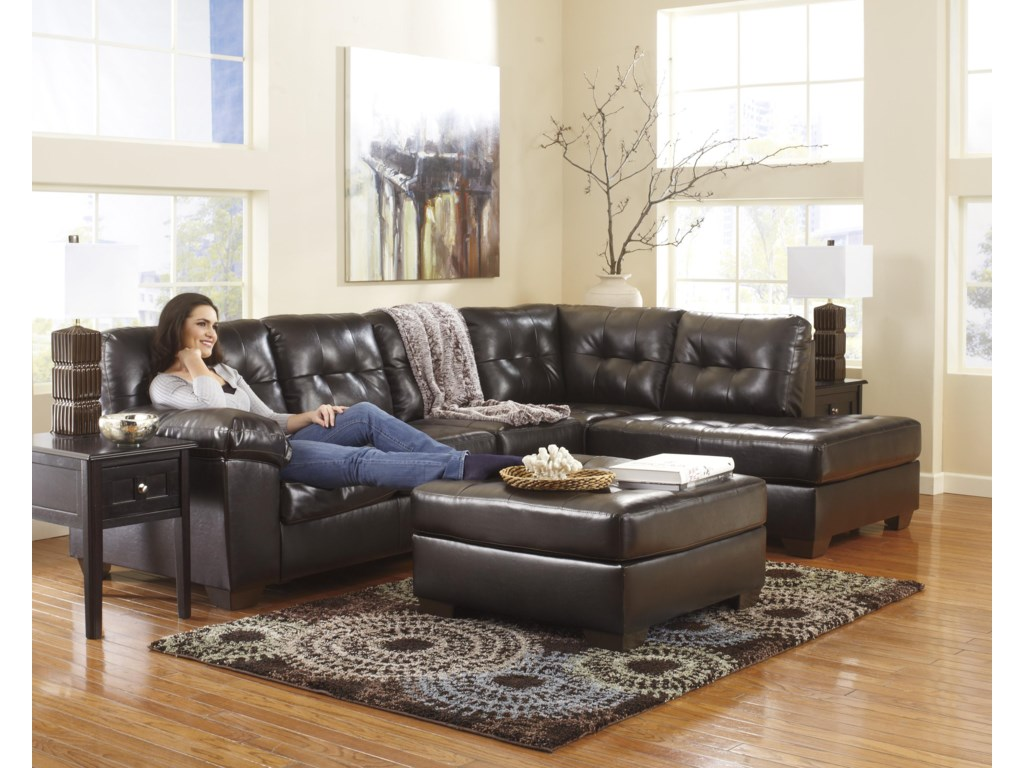 Ashley (Signature Design) Alliston DuraBlend® - ChocolateOversized Accent Ottoman