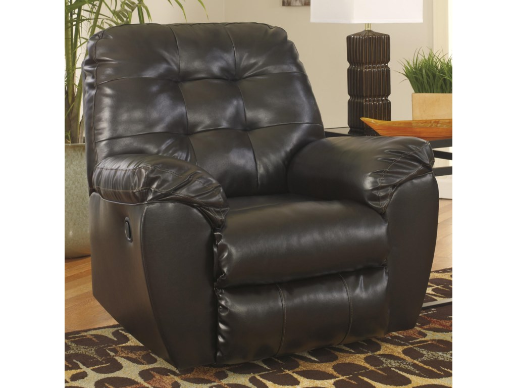Signature Design by Ashley Alliston DuraBlend® - ChocolateRocker Recliner