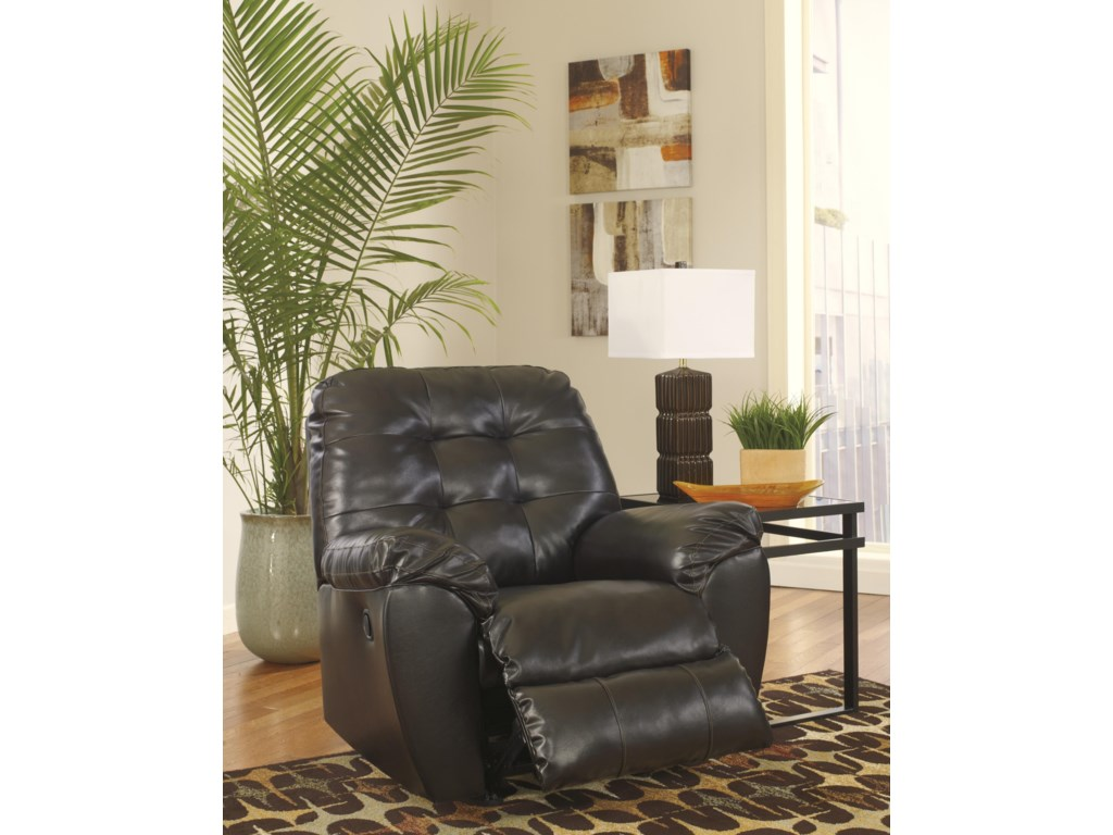 Signature Design Alliston DuraBlend® - ChocolateRocker Recliner