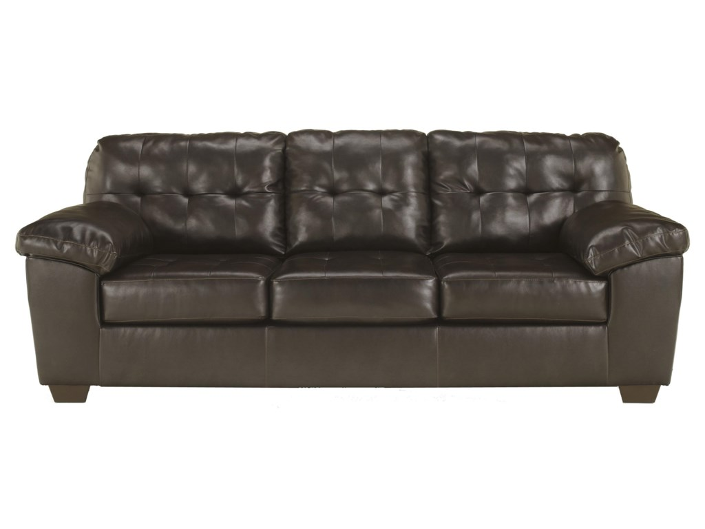 Signature Design by Ashley Alliston DuraBlend® - ChocolateQueen Sofa Sleeper