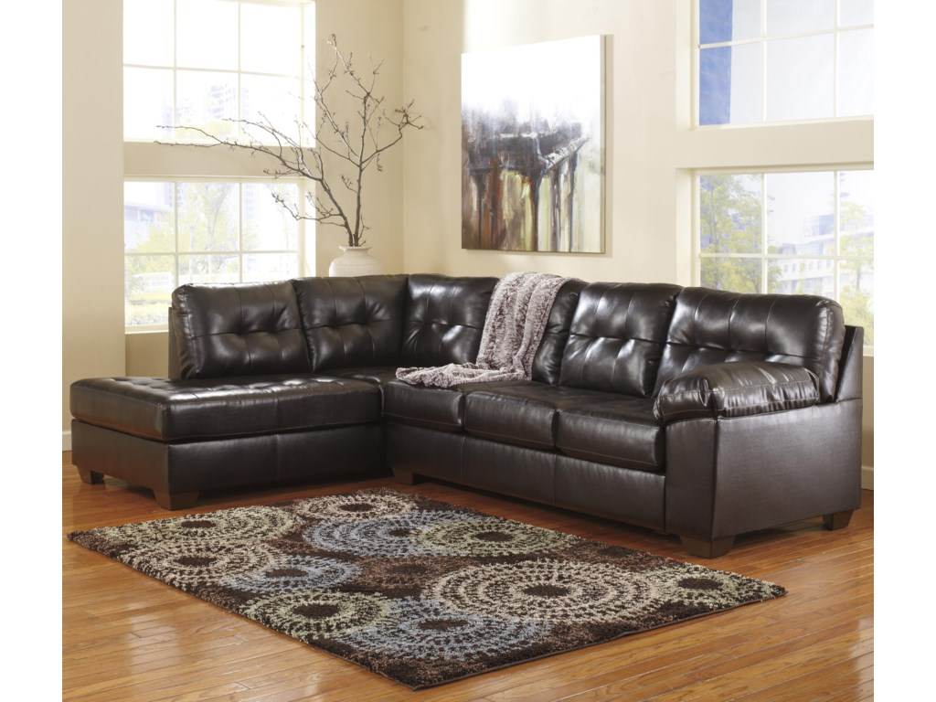 Signature Design by Ashley Alliston DuraBlend® - ChocolateSectional w/ Left Chaise