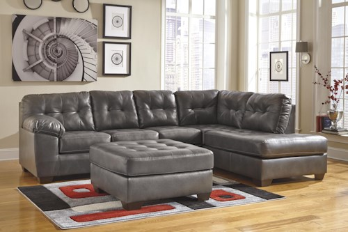 Signature Design by Ashley Alliston DuraBlend® - Gray Stationary Living Room Group