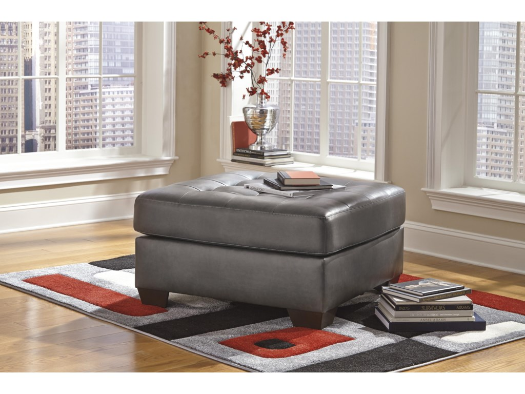 Ashley (Signature Design) Alliston DuraBlend® - GrayOversized Accent Ottoman
