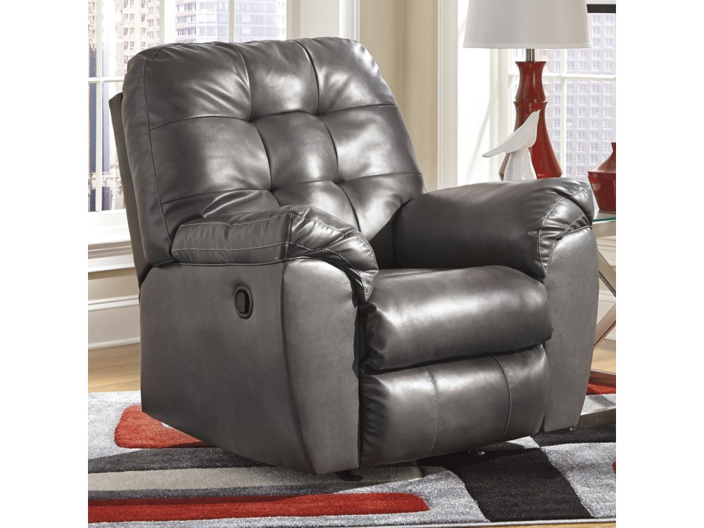Signature Design by Ashley Alliston DuraBlend® - GrayRocker Recliner