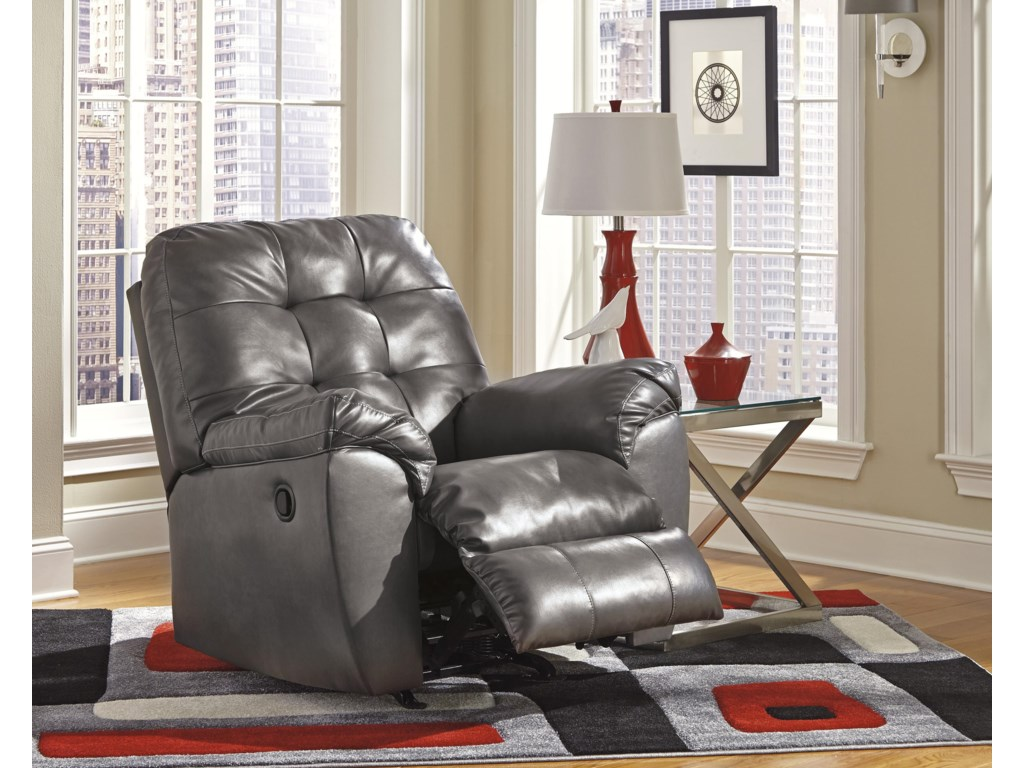 Signature Design Alliston DuraBlend® - GrayRocker Recliner