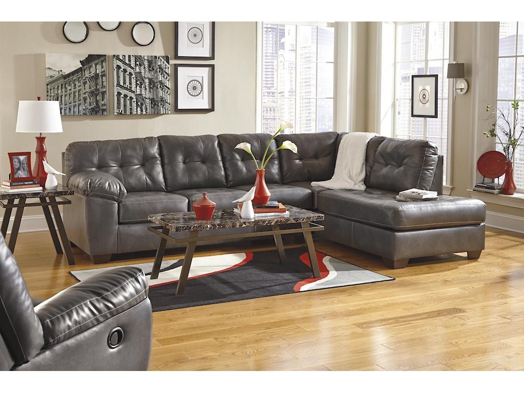 Ashley (Signature Design) Alliston DuraBlend® - GrayRocker Recliner