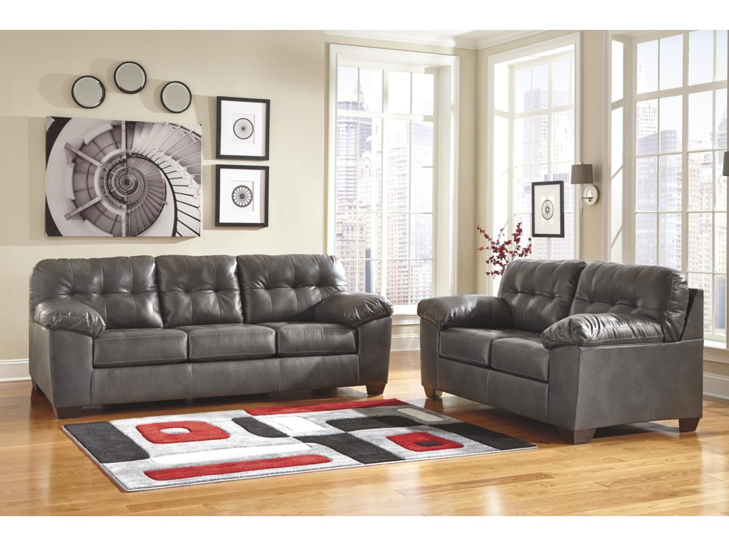 Signature Design by Ashley Alliston DuraBlend® - GrayLoveseat
