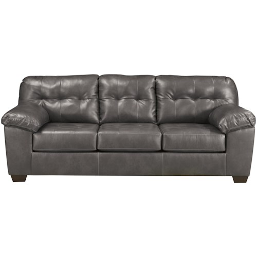 Signature Design by Ashley Alliston DuraBlend® - Gray Queen Sofa Sleeper w/ Tufting