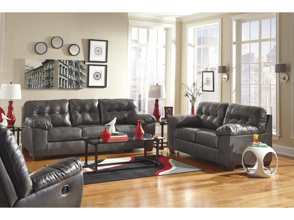 separation shoes 8839d 0bcc1 Alliston DuraBlend® - Gray Queen Sofa Sleeper w/ Tufting by Signature  Design by Ashley at Value City Furniture