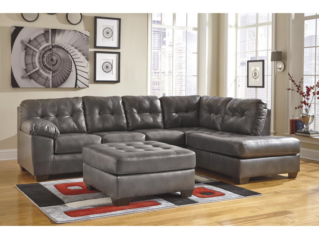 Signature Design by Ashley Alliston DuraBlend® - GraySectional w/ Right Chaise