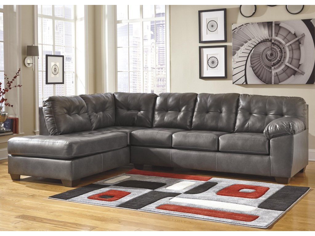 Alliston DuraBlend® - Gray Sectional w/ Left Chaise