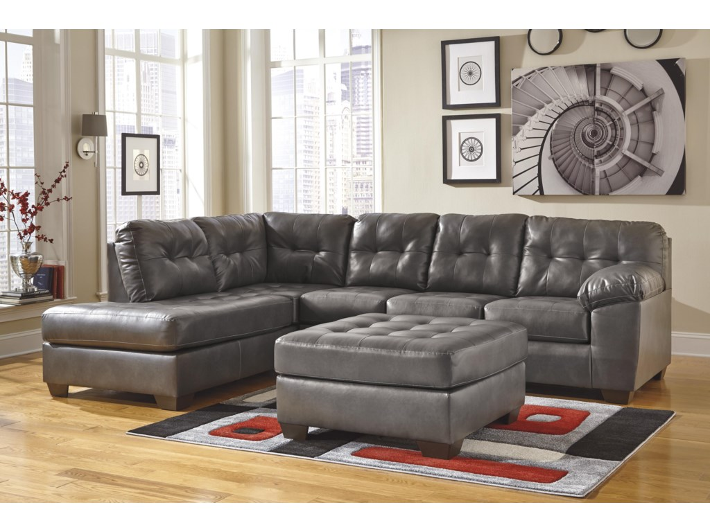 Signature Design Alliston DuraBlend® - GraySectional w/ Left Chaise
