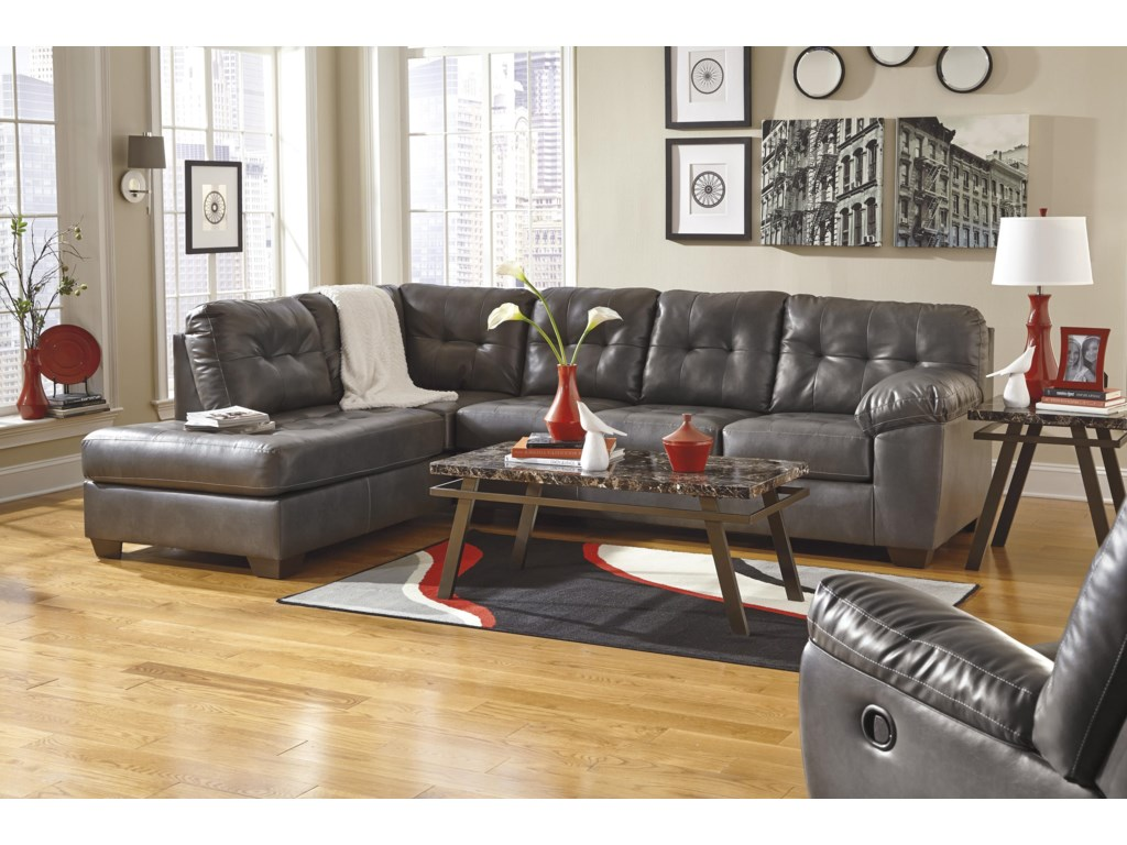 Signature Design by Ashley Alliston DuraBlend® - GraySectional w/ Left Chaise