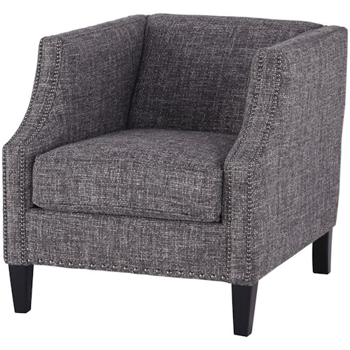 Signature Design by Ashley Felsbert Contemporary Tuxedo Back Accent Chair with Nailheads