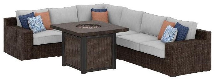 Fenwick L Shaped Sectional With Firepit