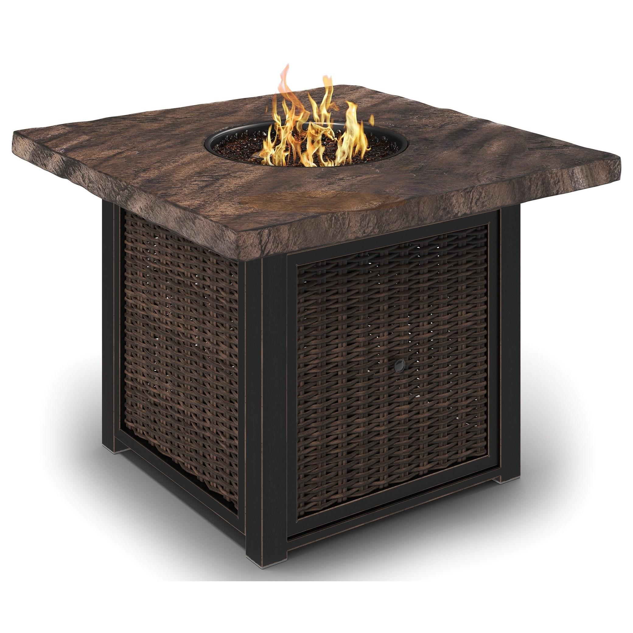 Signature Design By Ashley Alta GrandeSquare Fire Pit Table ...