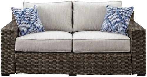 Signature Design by Ashley Alta Grande Contemporary Outdoor Loveseat with Cushion