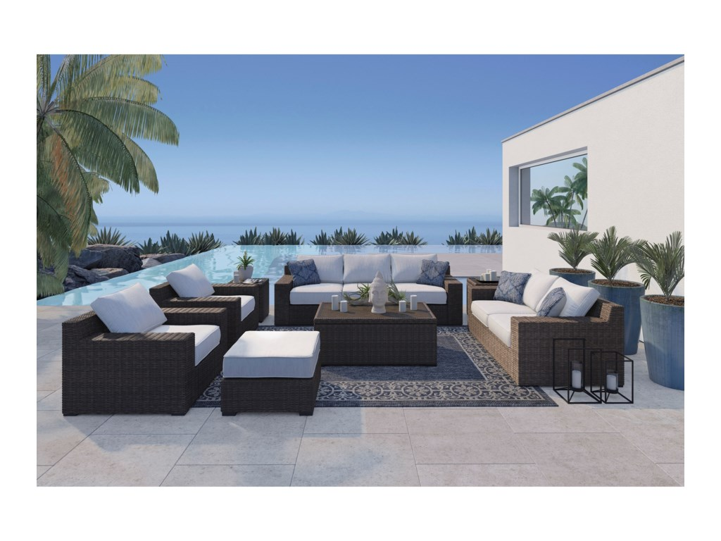 Ashley (Signature Design) Alta GrandeOutdoor Conversation Set