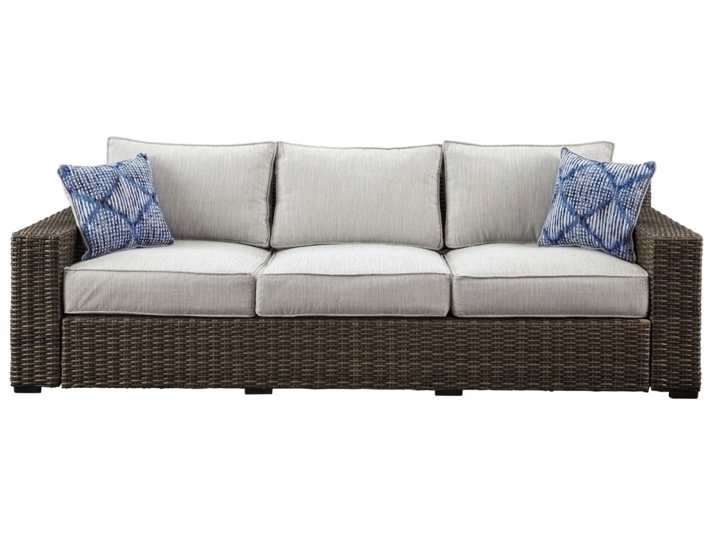 Alta Grande Contemporary Outdoor Sofa with Cushion by Signature Design by  Ashley at Wayside Furniture