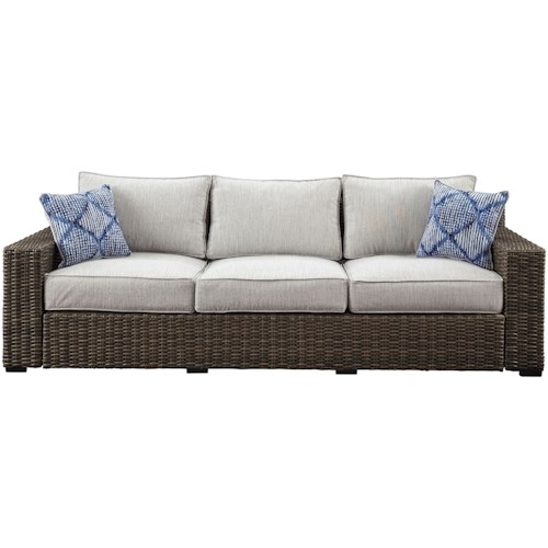 Signature Design by Ashley Alta Grande Contemporary Outdoor Sofa with Cushion