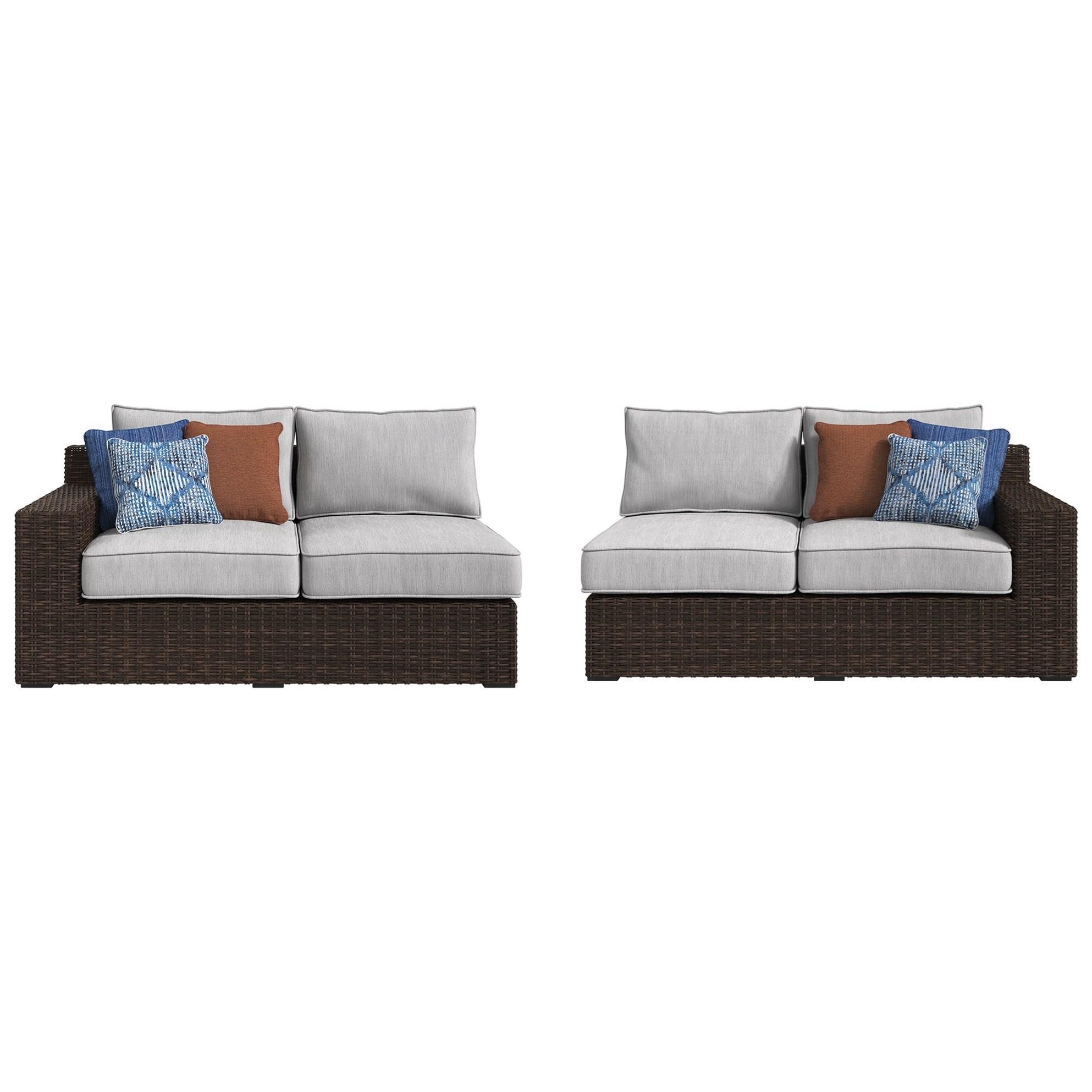 Signature Design By Ashley Alta GrandeRAF Loveseat U0026 LAF Loveseat With  Cushion ...