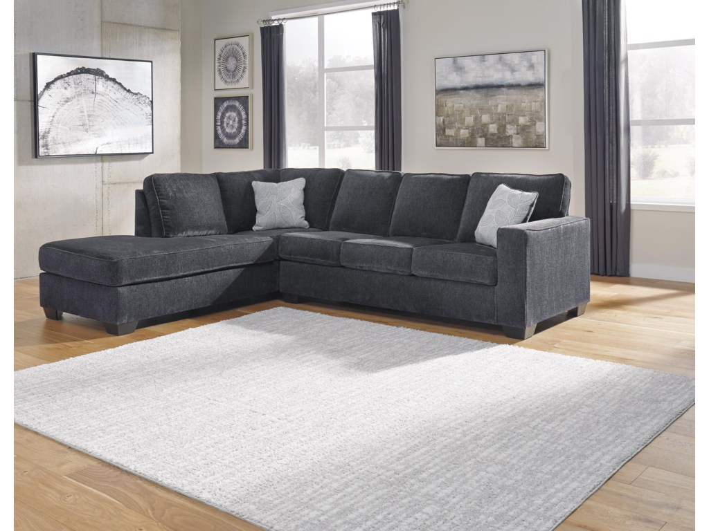 Signature Design by Ashley Altari2 PC Sectional and Ottoman Set