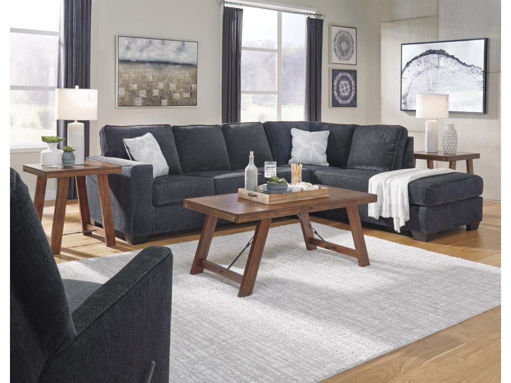 Signature Design by Ashley Altari2 PC Sectional and Recliner Set