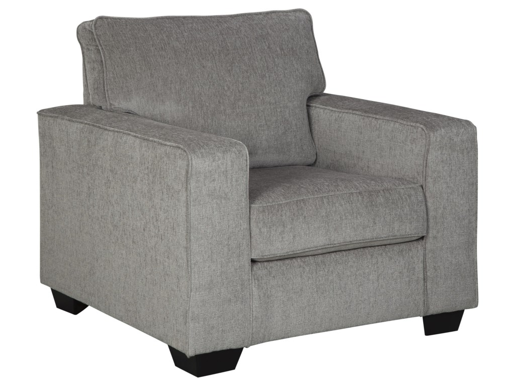 Signature Design by Ashley Altari2 PC Sectional, hair and Ottoman Set