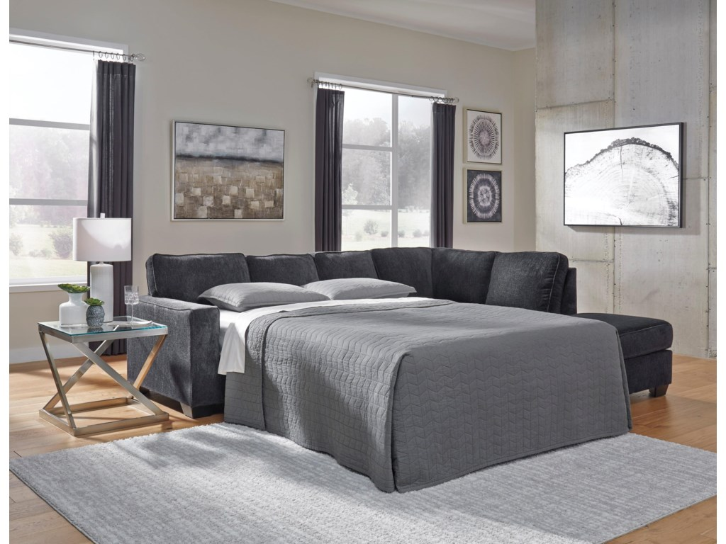 Signature Design by Ashley Altari2 PC Sleeper Sectional and Ottoman Set