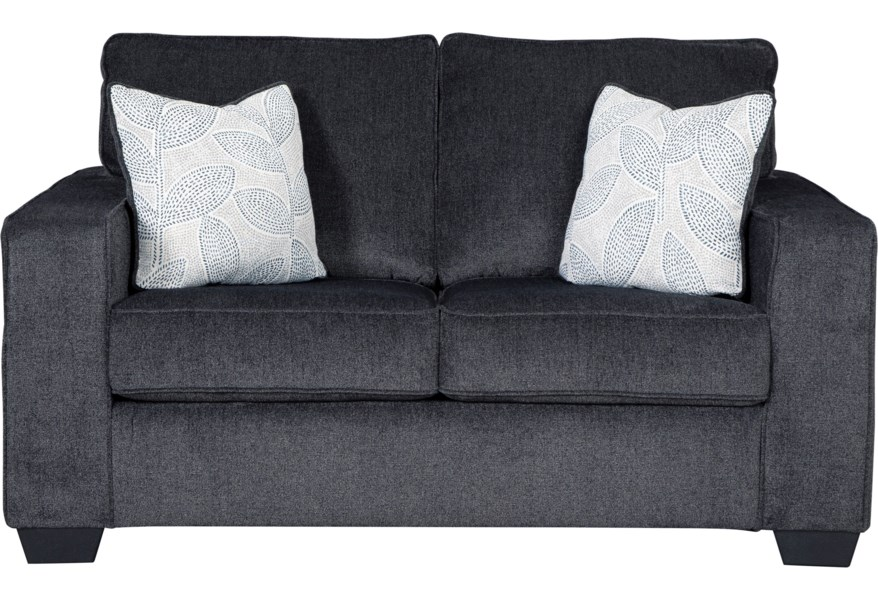 Ashley Signature Design Altari Contemporary Loveseat With Track Arms Rooms And Rest Loveseats