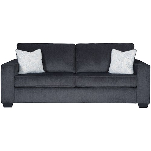 Signature Design by Ashley Altari Contemporary Sofa with Track Arms
