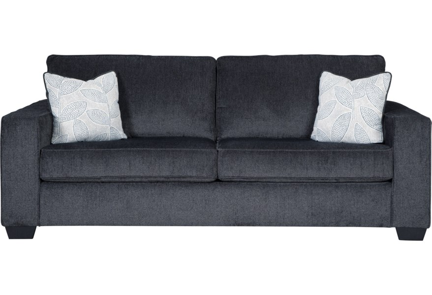 Altari Contemporary Sofa With Track Arms By Signature Design Ashley At Rife S Home Furniture
