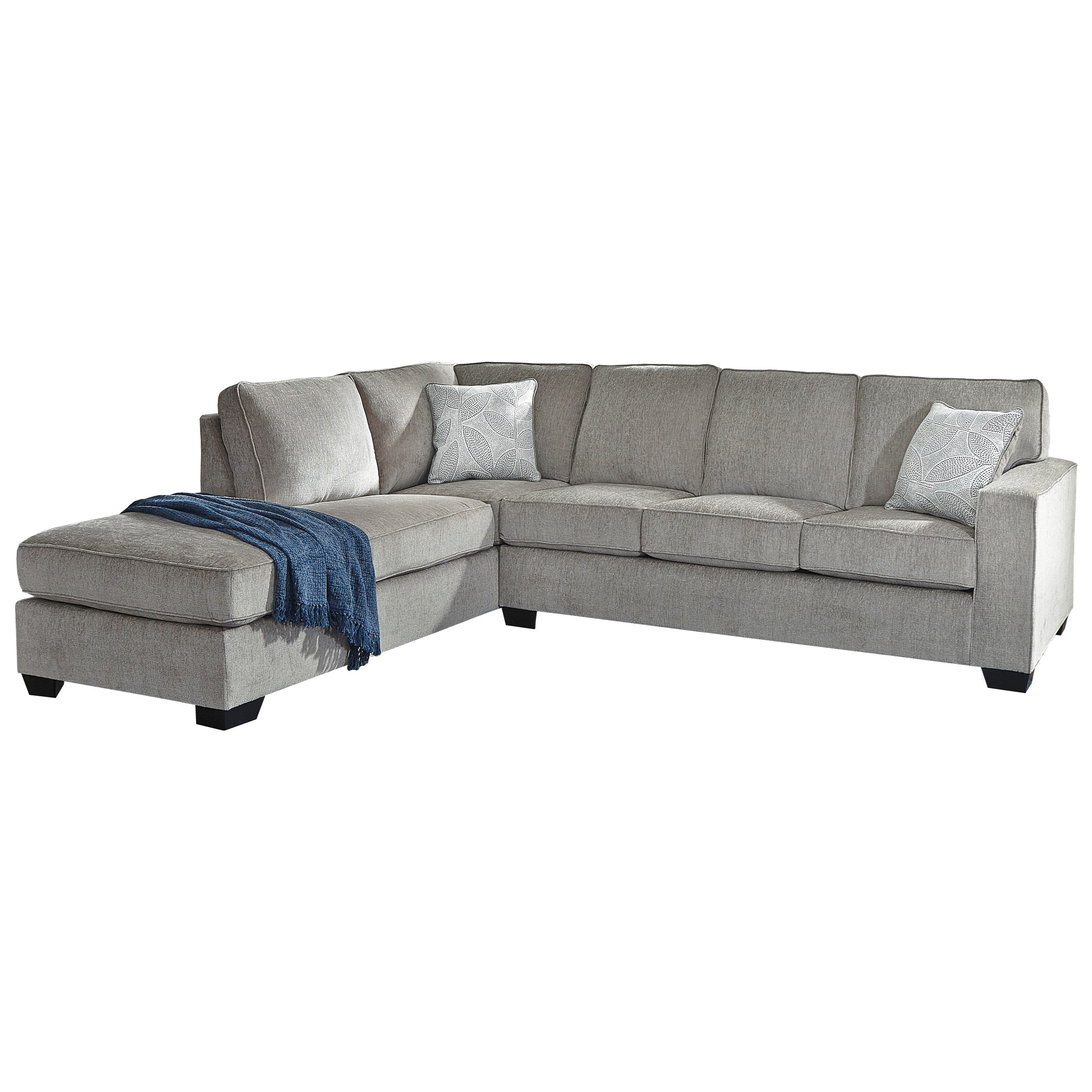 - Signature Design By Ashley Altari Sleeper Sectional With Chaise