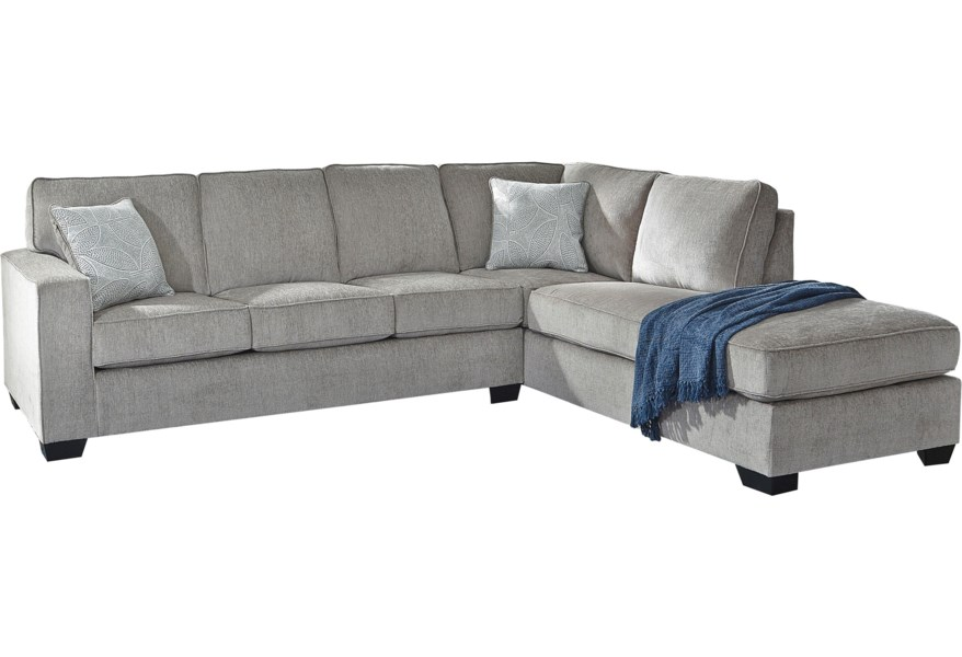 Signature Design By Ashley Altari 2 Piece Sectional With Chaise Reid S Furniture Sectional Sofas