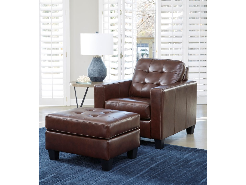 Signature Design by Ashley AltonburyChair and Ottoman Set