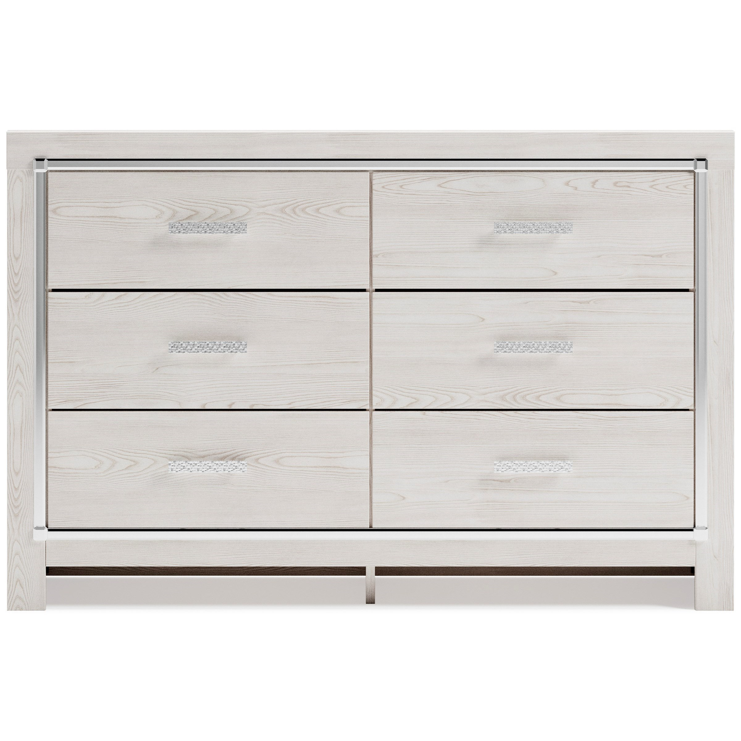 Glam 6-Drawer Dresser with Chrome Finish Accents