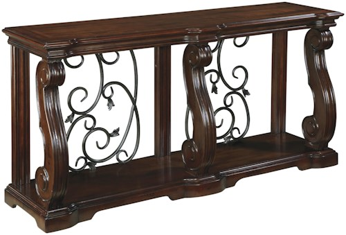 Signature Design by Ashley Alymere Traditional Sofa Table with 1 Shelf