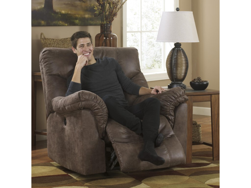 Ashley Signature Design Alzena - GunsmokeRocker Recliner