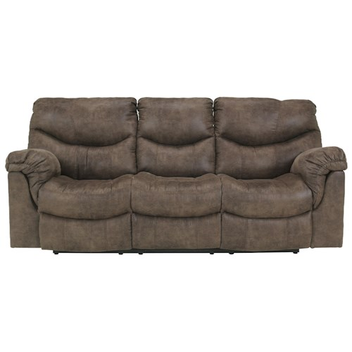 Signature Design by Ashley Alzena - Gunsmoke Reclining Power Sofa with Casual Style