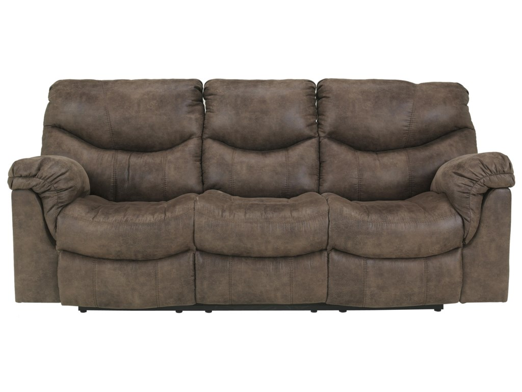 Ashley (Signature Design) Alzena - GunsmokeReclining Power Sofa