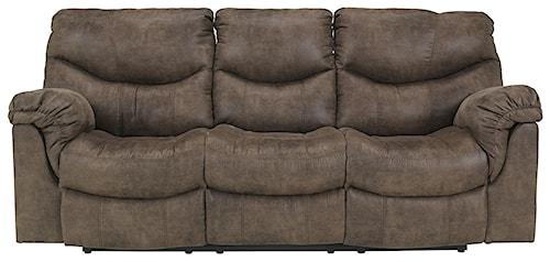 Signature Design by Ashley Alzena - Gunsmoke Reclining Power Sofa with Casual Style