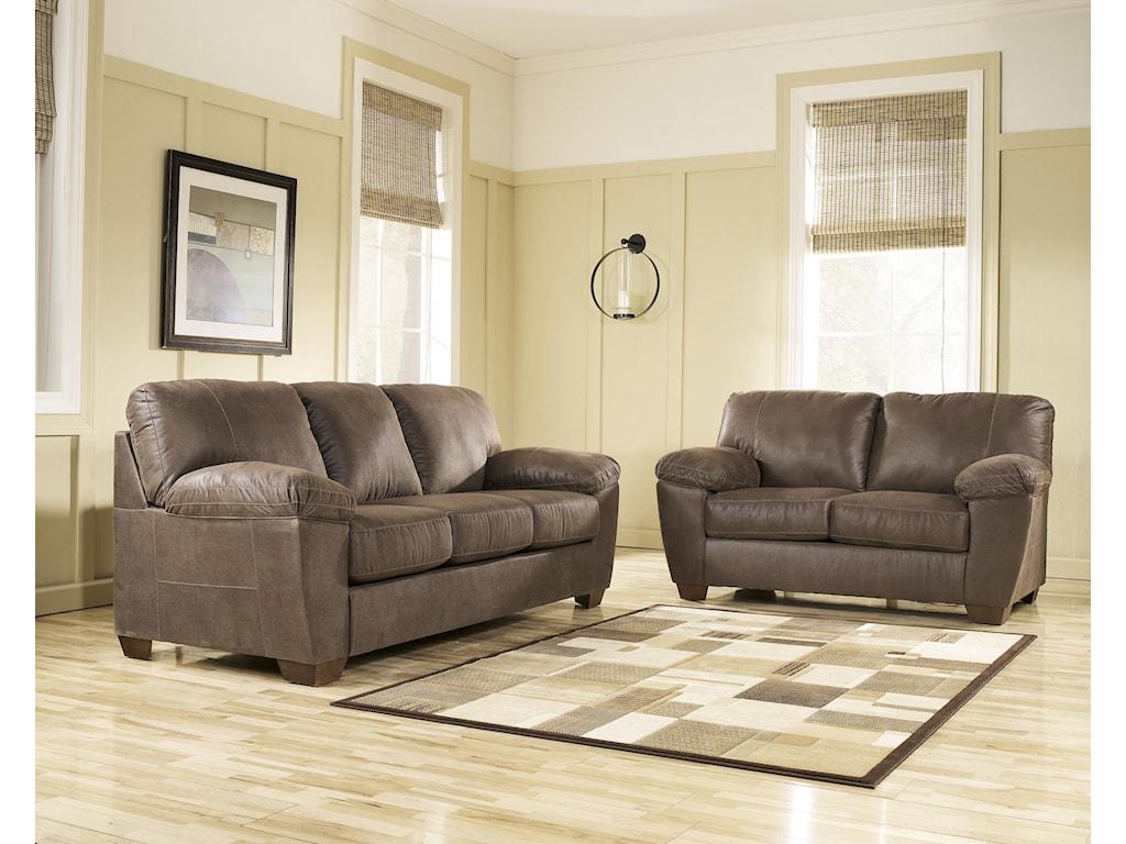 Signature Design by Ashley Amazon - WalnutStationary Living Room Group